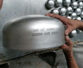 304 Stainless steel buttweld pipe cap manufacturing